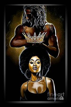 Sexy Black Art, Black Love Art, Black Girl Art, Black Girls Rock, Black Is Beautiful, Black Girl Magic, Black Love Images, Black Art Painting, Black Artwork