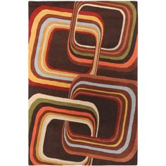 Surya Forum FM7007 Contemporary Hand Tufted 100 Wool Coffee Bean 2 x 3 Geometric Accent Rug >>> You can find out more details at the link of the image.