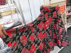 Vintage 1950s Atomic Felt Circle Skirt by ReuttersGeneralStore, $54.00