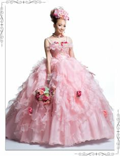 SD-0275 PINK wedding gown by Scena D'uno I'm having hard time telling difference between pretty but over the top or horribly tacky, because I love everything pink.