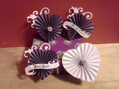 How To Make A Heart Rosette using Spellbinders Curved Borders One or you can make your own handmade curved template 6 inches long. 3d Paper Crafts, Scrapbook Paper Crafts, Diy Paper, Diy Crafts, Paper Crafting, Easy Christmas Crafts, Simple Christmas, Paper Rosettes, Paper Flowers