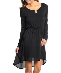 Take a look at this Black Hi-Low Dress by Buy in America on #zulily today! $22 !!