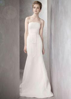 Twill Gazar Mermaid Wedding Dresses with Grosgrain Sash Style VW351081  http://www.im-lux.com