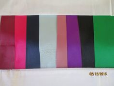 Double Faced Satin Ribbon, 3 Inches Wide, Sold by the Yard, Bridal,Bows, Sashes  THIS LISTING SELLS BY THE Yard  This is beautiful double faced 3 wide ribbon use for:  Bridal Sashes for your wedding dress or bridesmaids Iron-on rhinestones to make a swag sash for the wedding shower or bachelorette party Photo Shoots Bows Decor for Wedding Pew Bows Special Gift Wrapping   PLEASE NOTE: You may purchase as many Yards as you wish, Leave the color choice in NOTES TO SELLER AT CHECKOUT. PLEASE DO…