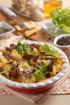 Zapečte ju: Hliva so zemiakmi a slaninou Vegetable Recipes, Beef, Chicken, Vegetables, Food, Meat, Essen, Meals, Yemek