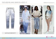 Denim fashion trends forecasting AW1718   flat drawings ...
