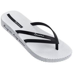 Ipanema Bossa Soft slippers dames white black De Wit Schijndel Soft Slippers, The North Face, Heels, Black, Fashion, Shoes Sandals, Heel, Moda, The Nord Face