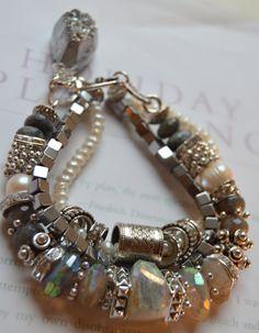 ON SALE chunky bracelet peruvian opal bracelet ab by soulfuledges
