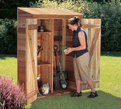 storage for garden, perfect for storing garden tools, power tools and other gardening supplies.