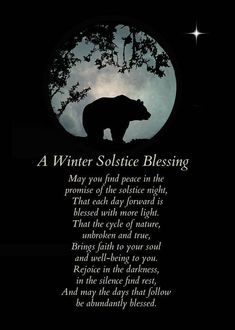 Native American Inspired Winter Solstice Blessings With Bear Art Print by Stephanie Laird