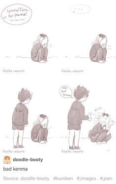 Kuro and Kenma XD When Kenma didn´t want to come to practice - Haikyuu!! Nekoma