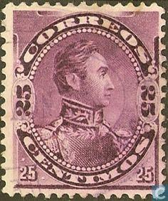 Stamps - Venezuela - Simon Bolivar 1893