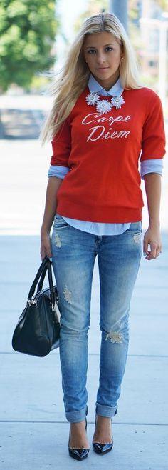 Boyfriend Jeans & Petal Bursts – Evelinas Fashion Cafe