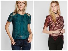 Looking for something sexy to wear everyday? Try lace tops!