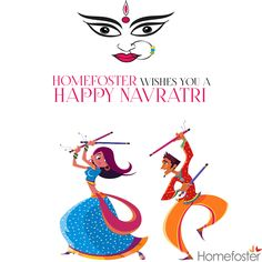 May your life be filled with happiness on this pious festival of #Navratri, Happy Navratri. Homefoster wishes you a Happy Navratri !!