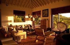 Zenza light in the livingroom in Villa Susanna, Caribbean by Nomade architettura  www.nomadearchitettura.com
