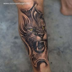 Lion tattoo designs have grown popular because of its meaning and its great aesthetic value. Below, we are going to mention angry lion tattoo ideas & designs. Lion Forearm Tattoos, Lion Head Tattoos, Mens Lion Tattoo, Leo Tattoos, Animal Tattoos, Body Art Tattoos, Tattoo Art, Tatoos, Lioness Tattoo