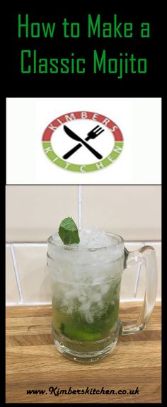 A recipe and guide on how to make a classic Mojito cocktail Most Popular Cocktails, Cocktails To Try, Mojito Cocktail, Party Drinks, Rum, Tasty, Foods, Classic, Desserts