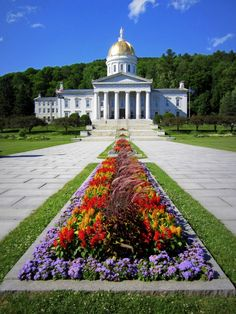The State House in Montpelier (the smallest state capital in the United States). The House and Senate chambers found here are the oldest legislative chambers (in their original condition) in the country.