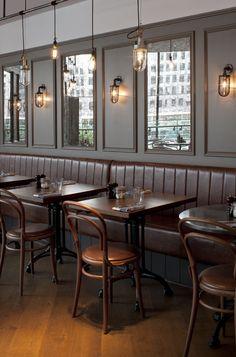 restaurant bar Hot Right Now: Londons Most Stylish Restaurants Coffee Shop Interior Design, Pub Interior, Coffee Shop Design, Cafe Design, Restaurant Design, Decoration Restaurant, Pub Decor, Deco Cafe, Café Bar