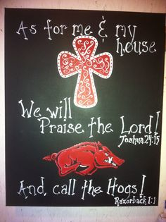 Razorback Handpainted Canvas 16x20 by BecsBeautifulMess on Etsy, $40.00