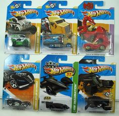 HOT WHEELS LOT OF 6 VHTF MODELS  ADD THESE COOL CARS TO YOUR COLLECTION  1) 2011 NEW MODELS ARKHAM ASYLUM BATMOBILE 24/244  2) 2012 NEW MODELS THE BAT 27/247  3) 2012 NEW MODELS HIWAY HAULER 45/247  4) 2012 NEW MODELS ANGRY BIRDS MINION PIG 35/247  5) 2013 HW IMAGINATION BATMAN LIVE BATMOBILE 65/250  6) 2012 YEAR OF THE DRAGON RODZILLA  THESE CARS ARE IN THEIR ORIGINAL PACKAGING AND AS YOU CAN SEE BY THE PHOTOS ARE IN EXCELLENT CONDITION, $29.88
