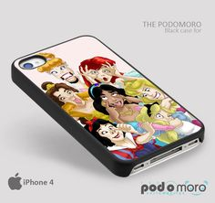 Disney Princess Funny Face for iPhone 4/4S, iPhone 5/5S, iPhone 5c, iPhone 6, iPhone 6 Plus, iPod 4, iPod 5, Samsung Galaxy S3, Galaxy S4, Galaxy S5, Galaxy S6, Samsung Galaxy Note 3, Galaxy Note 4, Phone Case