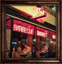 """Hill Country Barbecue- Delicious barbecue in downtown DC. Unique set up. Order from the """"Market"""" then ticket is rung up at the end."""