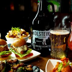 Order for the table then take it home. Holsteins souvenir growlers include 50% off refills.