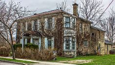 I was out today taking a few test shots for a new series I have been thinking of doing - Historical Buildings of Goderich. I think I will wait a bit longer until the trees fill in and the blooms are more abundant. Old Houses, Ontario, Beautiful Homes, Cabin, Mansions, Watercolour Painting, House Styles, Airplanes, Places