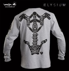 Looking to break out the EXOSKELETON from Neill Blomkamp's film, Elysium. Long sleeve shirt with Kruger's Exoskeleton. The Heather Grey long sleeve … Continue Reading → Neill Blomkamp, Long Sleeve Shirts, Shirt Designs, It Cast, Style Inspiration, Sweatshirts, Womens Fashion, Sweaters, Sweater
