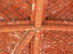 Место пересечения диагональных нервюр и одной дополнительной. Чертежи для стройки дома в стиле русской готики. Архитектор Антон Булатецкий