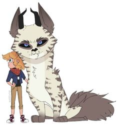 amanda and her guardian / pet, something tells me that this big guy was a gift star mom :V