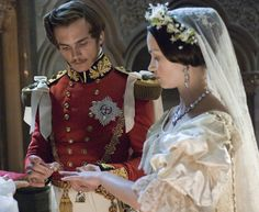 The Young Victoria    Queen Victoria (Emily Blunt) and Prince Albert (Rupert Friend) have a gorgeous wedding and, unlike many of their contemporaries, a loving marriage.