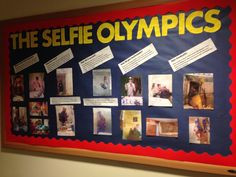 The Selfie Olympics RA Bulletin Board could find selfies of your residents at the end of the year as a last hurrah