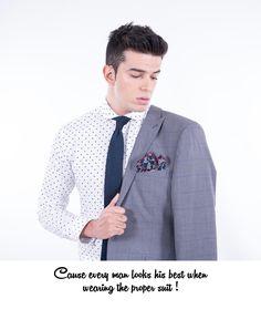 Slim Fit Checked Suit In Virgin Wool