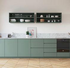 Kitchen Furniture, Kitchen Interior, New Kitchen, Kitchen Dining, Kitchen Cabinets, White House Interior, Home Interior Design, Cocinas Kitchen, Apartment Kitchen