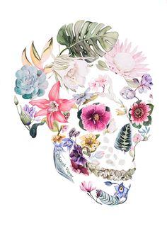Hibiscus - Watercolor by Sarah Voyer Art