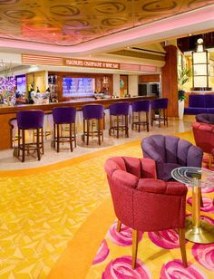 Magnum's Champagne Bar onboard the Norwegian Jade- spent a LOT of time here!  LIstening to great piano music and enjoying martini tastings!