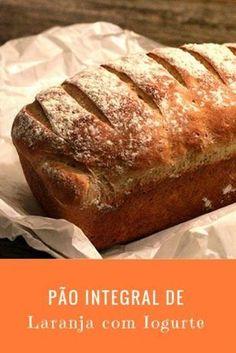 Pão integral de laranja com iogurte