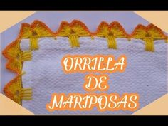 Orilla de Mariposas en Crochet para Servilletas Orilla de Mariposas #20 - YouTube