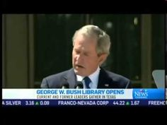 Bush Gets Emotional, Cries at Library Opening.    It doesn't matter how hard you rehearse. If you aren't speaking from your heart it comes across clear as day. The difference between Bush and Obama is striking.
