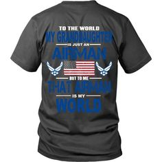 AIRFORCE - Granddaughter Is My World - Back Design