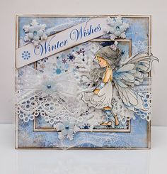 Beautiful Wintery card design using a Whimsy Stamps image by Sylvia Zet. Christmas Cards To Make, Xmas Cards, Holiday Cards, Art Impressions Stamps, Winter Fairy, Whimsy Stamps, Beautiful Handmade Cards, Card Making Inspiration, Looks Vintage