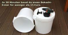 Mit dieser Anleitung baust du einen Bokashi-Eimer in 30 Minuten mit Teilen die weniger als 15 Euro kosten. So kompostierst du direkt in der Küche!