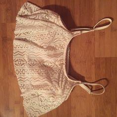 Lace flowy bikini top Brand new! Xhilaration Swim Bikinis