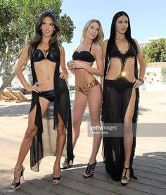 Victoria's Secret angels Alessandra Ambrosio, Candice Swanepoel and Adriana Lima celebrate the 2011 Victoria's Secret SWIM Collection at Mondrian Los Angeles on March 30, 2011 in West Hollywood, California.