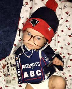 Studying up for Sunday's game! #Patriots #LilPats
