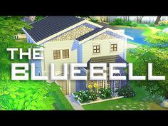 The Sims 4 : Speed Build | The Blue Bell - Starter Family House. -