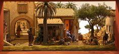 1 Gazebo, Pergola, Nativity, Street View, Outdoor Structures, House Styles, Painting, Emilio, Miniature